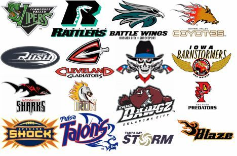 Arena football teams list