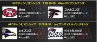 NFL NFC&AFCチャンピオンシップ